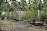 Bumper cars in Chernobyl