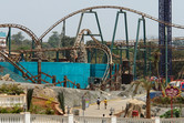 The great 'Gold Rush Express' roller coaster