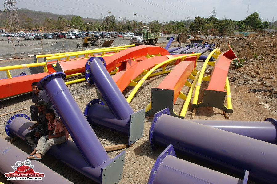 'Nitro', coaster number two, is still in the making