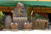Rajasaurus River Adventure is a clone of Universal's Jurassic Park Ride