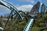 Flying coaster backwards