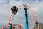 Spinning roller coaster