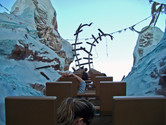 The end of the track, from where the coaster will go backwards