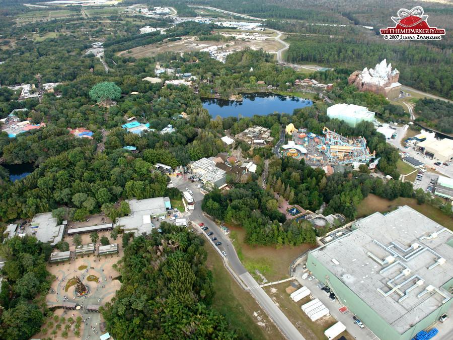 Disneys Animal Kingdom Aerial View
