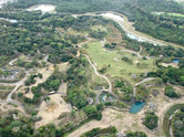 The safari section of Animal Kingdom from the helicopter