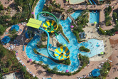Bowl-shaped water slides at Aquatica