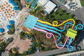 Aquatica tube slides from above
