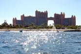 Atlantis resort seen from the sea