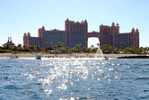 Atlantis resort seen from the sea