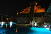 Aquaventure slide tower at night