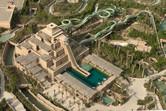 Ziggurat Tower aerial close-up