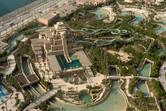 Aquaventure water park slide tower aerial