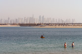 The water park has its own stretch of Palm Jumeirah beach