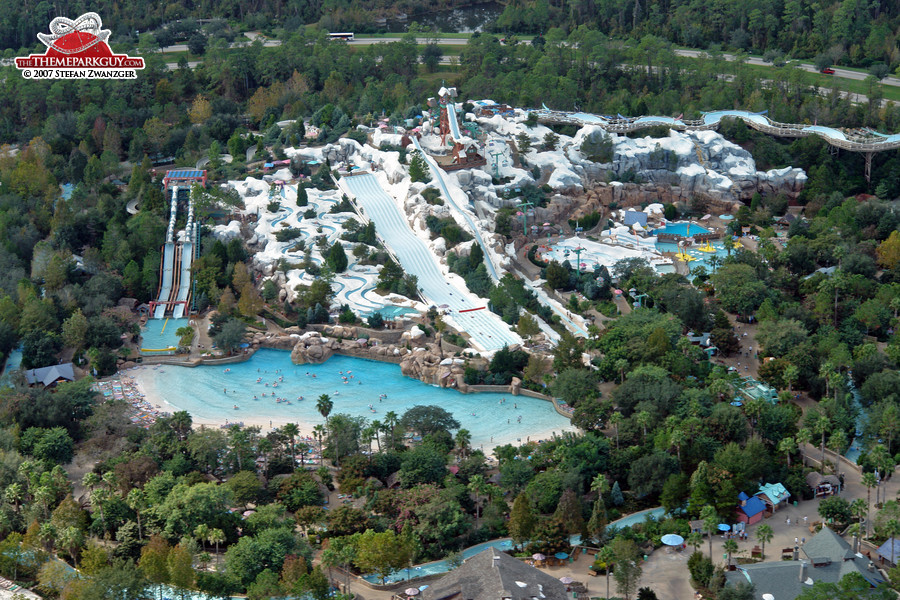 Blizzard Beach from above