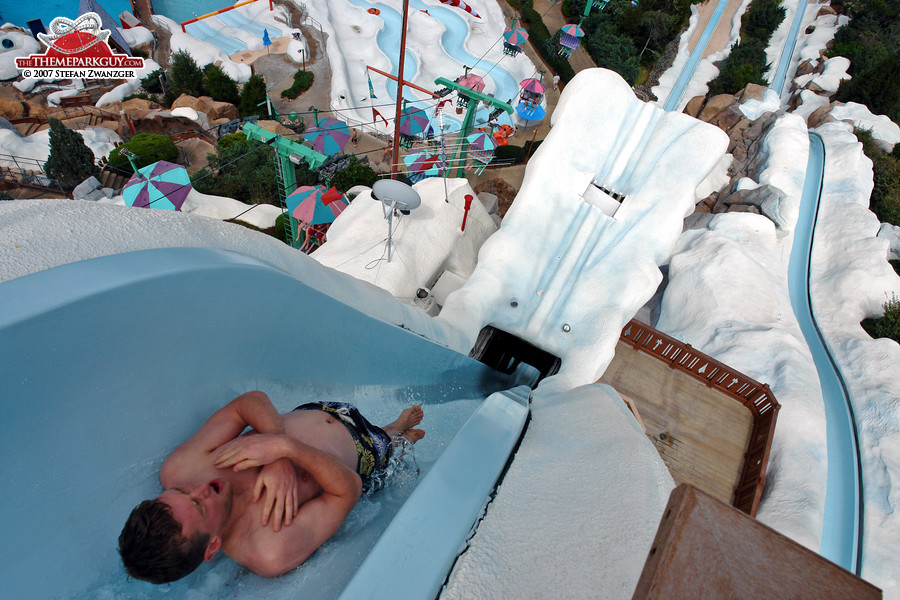 One of the world's steepest slides: Summit Plummet