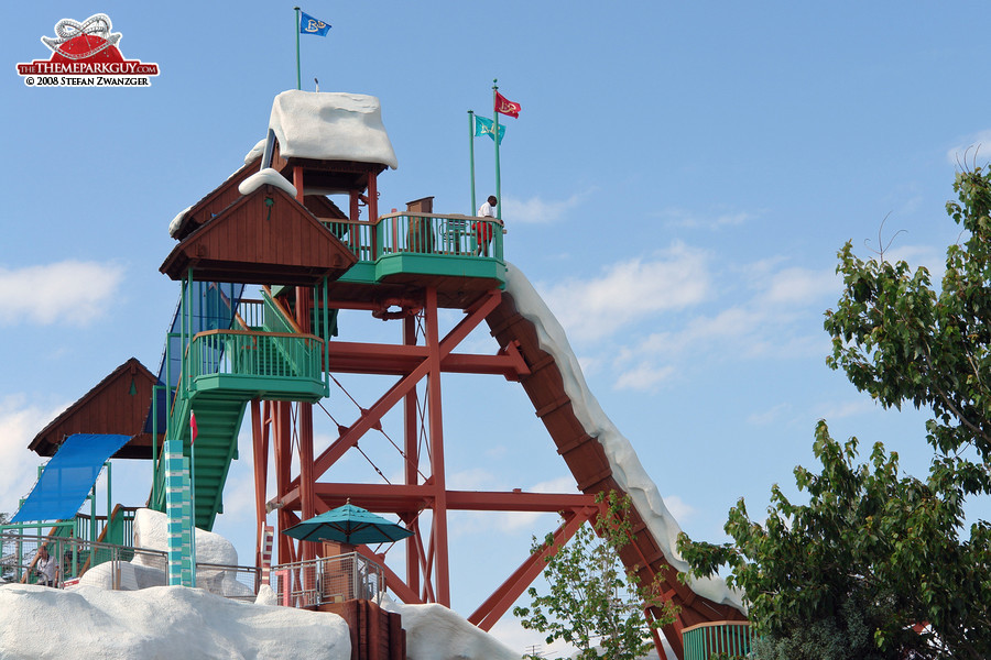 The highest point of Blizzard Beach