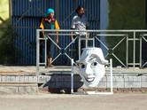 Approaching Ethiopia's sole outdoor amusement park