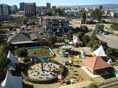 Bora Amusement Park in its entirety, seen from an adjacent building