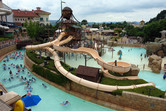 Kiddie area and lazy river