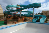 Water slides, closed during winter