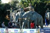 Elephants at the entrance