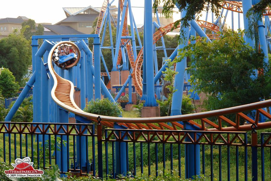 Coaster breaking through