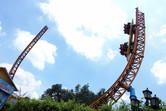 Half pipe roller coaster