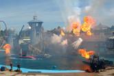 Heavily inspired by Universal Studios' WaterWorld show