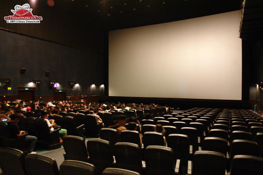 Inside the 4-D cinema