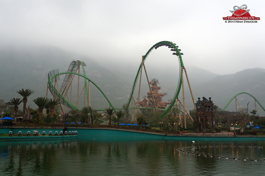 The theme park's only operational roller coaster