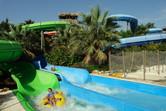 Tube slide splash pools