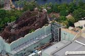 Raging Spirits roller coaster, next to Indiana Jones
