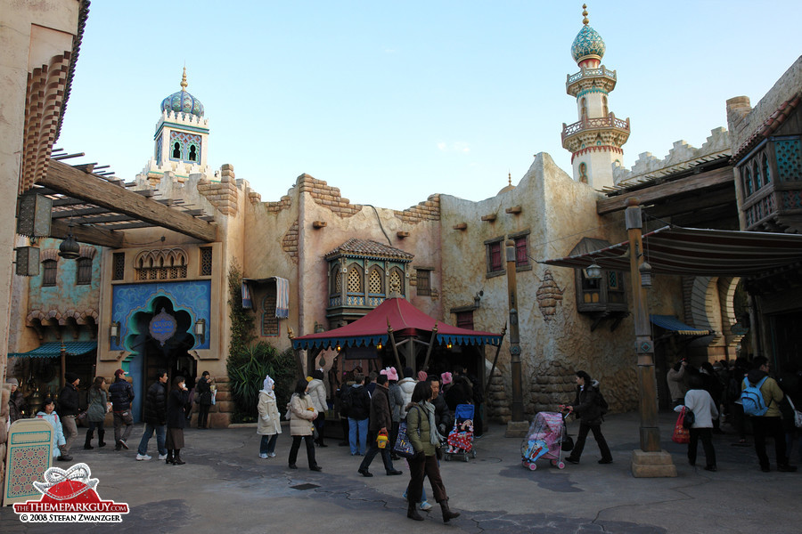 The romantic Arabian-themed area of the park