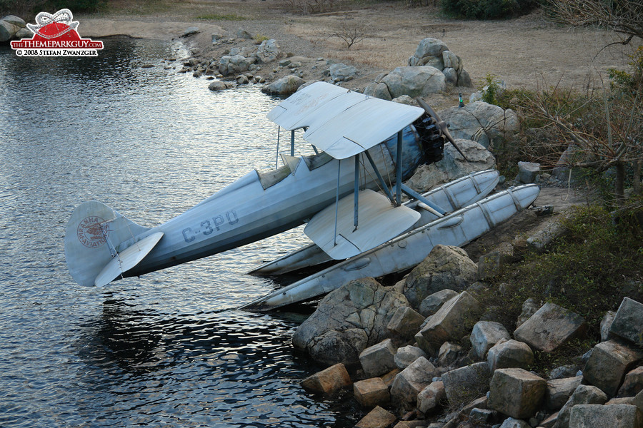 Stranded Indiana Jones plane