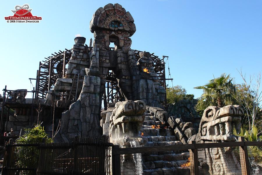 Raging Spirits looping roller coaster