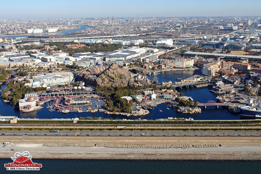 Aerial view of DisneySea