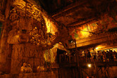 The detail-obsessed, atmospheric queue inside the Indiana Jones temple