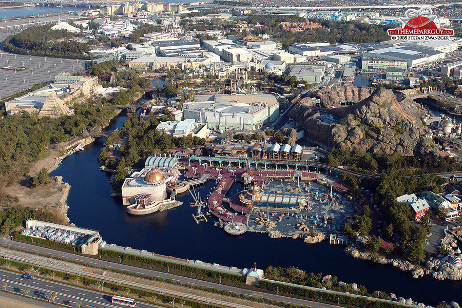 DisneySea, seen from the helicopter