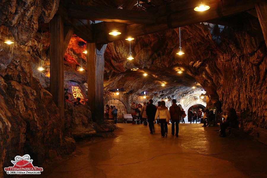 Entering the grotto to access one of the world's very best rides