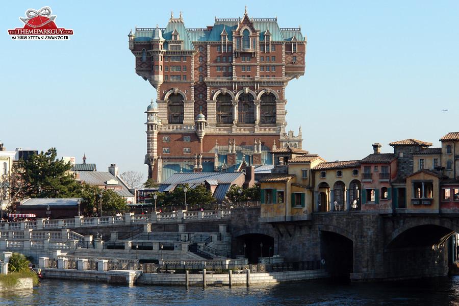 Tokyo DisneySea's uniquely designed Tower of Terror attraction