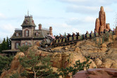 Big Thunder Mountain, with Phantom Manor ghost train in the background