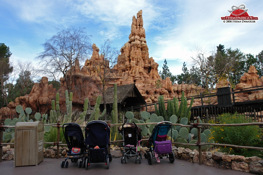 Big Thunder Mountain, with parked buggies