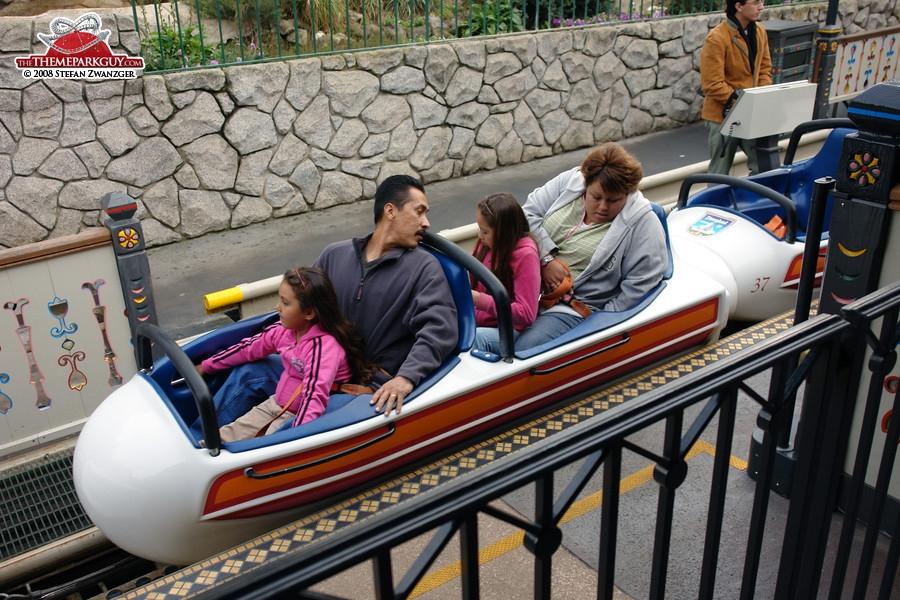 The bobsleds create a coaster-like experience