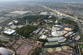 Disneyland Anaheim aerial view