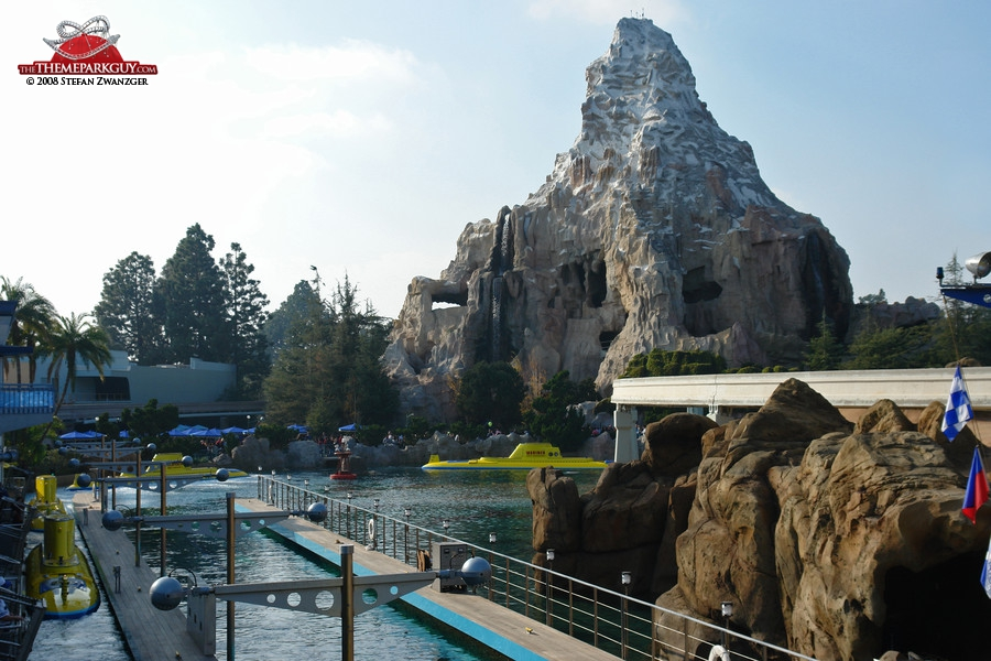 The Matterhorn attraction opened when Walt Disney was still alive