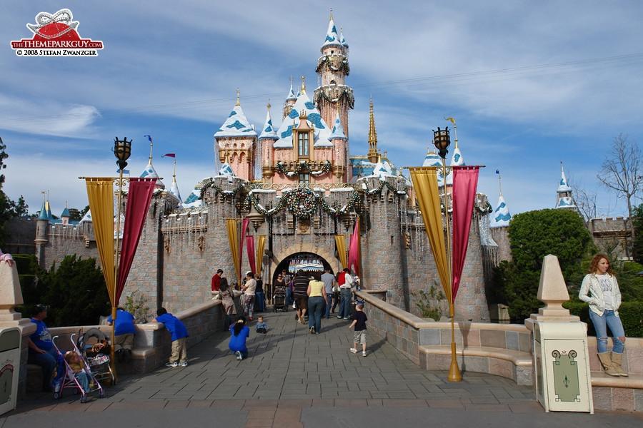 The very first Disneyland castle, inspired by Neuschwanstein in Germany