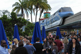 Monorail, with massive queues to the Submarine Voyage below
