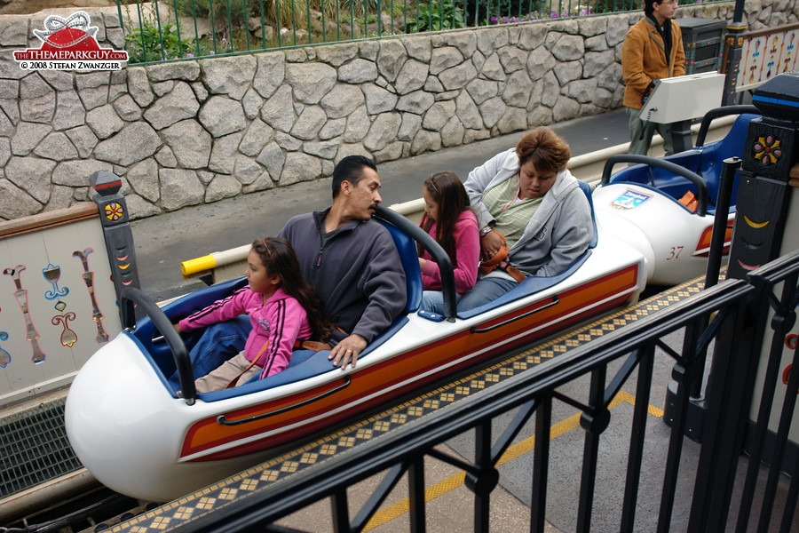 The bobsleds create a coaster-like experience
