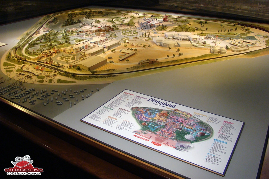 This Disneyland model shows how the park looked when it opened back in the 1950's