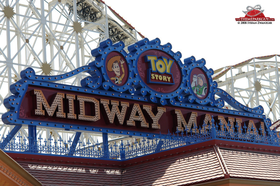 Toy Story Midway Mania under construction